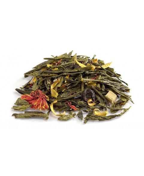 Boite à thé métal Orange